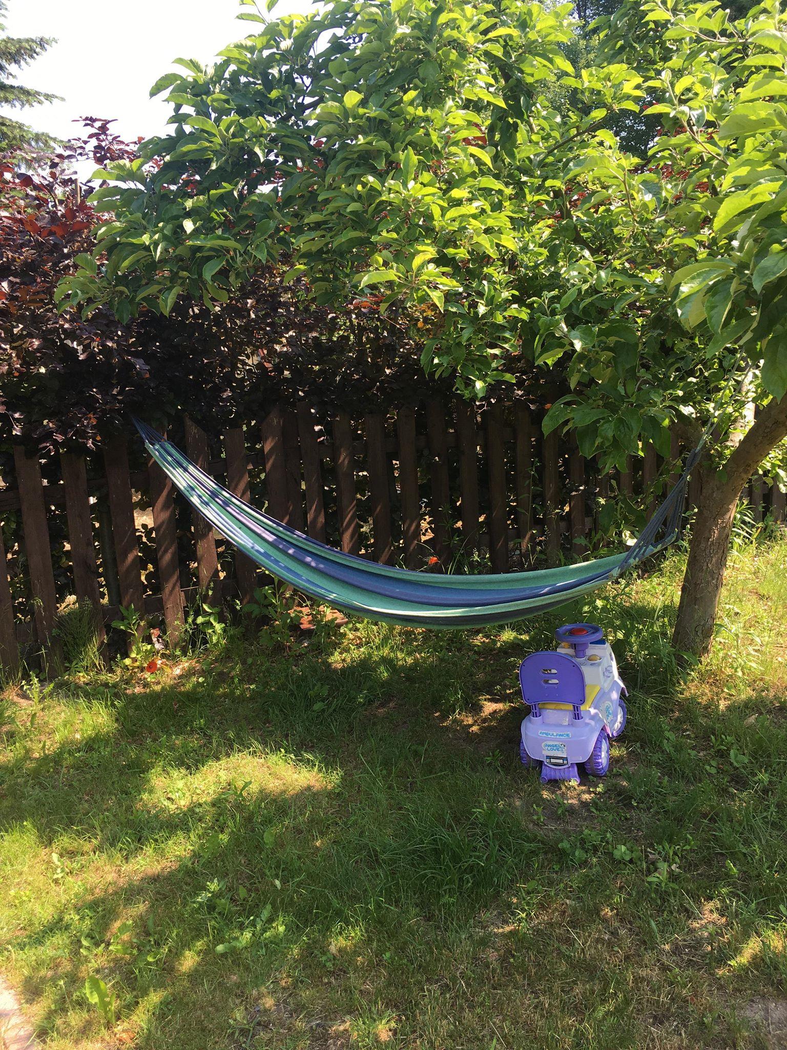 Hamak w ogrodzie   pokoje nad jeziorem łagowskim